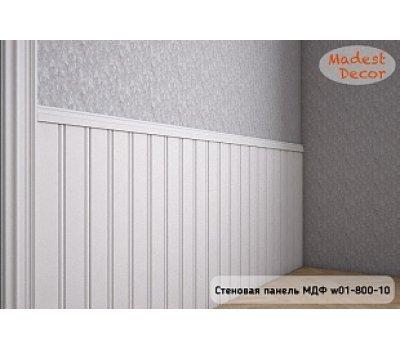 Стеновая панель МДФ w01-800-12 белая окрашенная